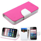 For Alcatel 3.5 PiXi 4 Wallet Case With ID Holder Slots Pouch