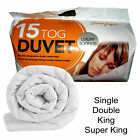 PolyCotton Duvet Quilt 15.0 TOG Single Double King Super King Hotel Quality