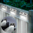 4x Solar Powered Garden Light Outdoor Pathway Fence Led Lighting Stainless Steel