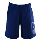 EA7 Kids Blue Cotton Shorts