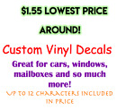 Custom Vinyl Decal. Windows! Cars! Mailboxes!