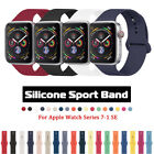 Silicone Sports iWatch Band Strap for Apple Watch Series 5 4 3 2 38/42mm 40/44mm image