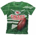 Kansas City Chiefs TOUCHDOWN NFL Youth T-Shirt Shirt, Green $8.99 USD on eBay