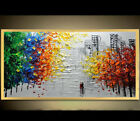 3D Hand-drawn Knife Painting Urban Landscape For Living Room Home Decor
