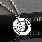 'I Love You' Silver Necklace Family Heart Pendant Christmas Gift Boho A143 UK