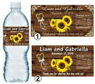 SUNFLOWER WEDDING FAVORS WATER BOTTLE LABELS