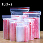 100pcs/pack Resealable Zip Lock Bags Self Seal Transparent Clear Storage Supply