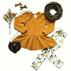 US 2PCS Child Toddler Kids Girls Outfits Clothes Long Sleeve Tops Pants Set
