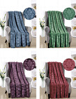 Ultra Plush Embossed Versailles Damask Fleece Throw Blankets - Assorted Colors