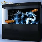 Water Dragon HD Aquarium Background Poster 3D Fish Tank Decorations Landscape
