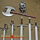 LARP Foam Medieval Collection Sword Rapier Axe Kevlar Core Tip Fiberglass Core