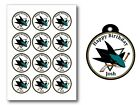 San Jose Sharks Birthday Party Gift Tags Round Labels Sticker Glossy Vinyl $10.0 USD on eBay
