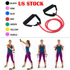 Exercise Fitness Resistance Bands Pilates Workout Gym Yoga Stretch Pull Rope US image