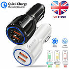 USB Fast Quick CAR Charger Adapter (35W / 12V-32V / 6A) for Android or iPhone