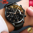 Unisex Casual Analog Masculino Relogio Watch Men Wrist Leather Gift Sport image