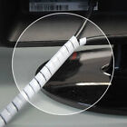CABLE TIDY SPIRAL WRAP WIRE PROTECTION BINDING ORGANISER WHITE REEL HEATSHRINK