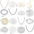 925 Sterling Silver Ball Bead Snake Bone Chain Necklace For Women Jewelry