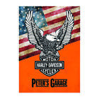 Harley Davidson Metal Personalised Sign Garage signCave Motorcycle Motorbike £4.99 GBP on eBay