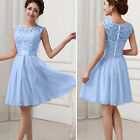 Women Lace Wedding Evening Party Mini Maxi Skater Dress Cocktail Bridesmaid Prom