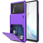 For Samsung Galaxy Note 10+ Plus Armor Hybrid Case Wallet Card Slot Holder Cover