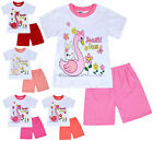 Girls Summer Set Goose T-shirt and Shorts Set 2 Piece Kids New Age 1 2 3 4 Years