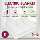 2019 Model Fully Fitted Electric Blanket Heated Machine Washable All Bed Sizes