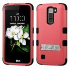 Tuff Shockproof Hybrid Phone Case Cover with Stand For LG LS675 Tribute 5 K7
