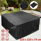 Outdoor Patio Furniture Cover Rectangular Garden Rattan Table Cover Waterproof F