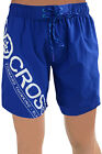 Crosshatch Mens Pacific Navy Swim Shorts Mesh Lined Pool Swimming Bottoms Trunks