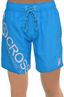 Crosshatch Mens Pacific Blue Swim Shorts Poolside Mesh Lined Swimming Trunks