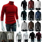 Mens Polo Turtle Roll Neck Knitted Jumper Sweater Tops Slim Fit Pullover T Shirt image