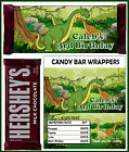 DINOSAUR BIRTHDAY PARTY FAVORS CANDY BAR HERSHEY BAR WRAPPERS