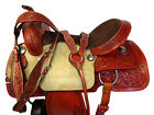 15 16 TRAIL SADDLE COMFY HORSE PLEASURE FLORAL TOOLED LEATHER WESTERN PACKAGE