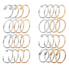 20G 2-32PCS Nose Ring Set Stainless Steel Lip Ear Hoop Body Piercing Jewelry image