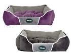 Heritage Soft Washable Dog Pet Bed Warm Basket Cushion Fleece Lining Puppy Pets
