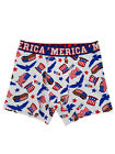 Mens 'Merica US Flag Uncle Sam Bald Eagle Hot Dog Patriotic Boxer Briefs