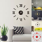 New Modern Large 3D DIY Mirror Surface Art Wall Clock Sticker Home Office  Decor