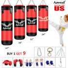 Kyпить Heavy Boxing Punching Bag Training Gloves Kicking MMA Workout w/Hook Chain Empty на еВаy.соm
