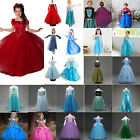 Toddler Kid Girl Elsa Snow Queen Anna Princess Party Fancy Dress Cosplay Costume