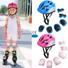 Kids Boys Girls Safety Roller Skating Bike Helmet Knee Elbow Protective Gear Set image