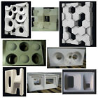 2 Plastic Molds Form for Plaster 3D 3 D Tile Wall Partition Panels Art Decor ABS image