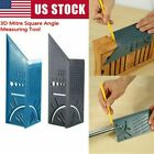 3D 90 Degree Mitre Square Angle Measuring Woodworking Tool w/Gauge and Ruler USA
