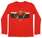 Reebok NHL Boys Youth Minnesota Wild Honor Code Long Sleeve Tee, Red $9.99 USD on eBay