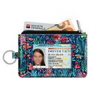 ID Case Card Holder Coin Purse Wallet RFID Blocking Change Pouch With Key Chain image