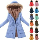 Winter Warm Hooded Jacket For Women Casual Plus Size Cotton Padded Coat Outwears