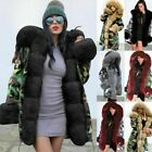 Women Ladies Winter Long Warm Thick Parka Faux Fur Jacket Hooded Coat Fur Lining