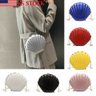US Seashell Shape Shoulder Bag Laser Mermaid Sea Shell Chain Purse Tote Satchel image