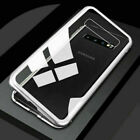 Magnetic Metal Back Transparent Glass Case Bumper For Samsung Galaxy S10 Plus UK