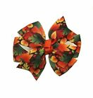 Fall Leaves Pinwheel Hair Bow