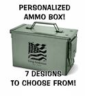 AMMO BOX - PERSONALIZED! 7 DESIGNS - FREE SHIPPING! CHRISTMAS GIFT IDEA DAD!